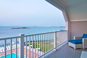 Privé Swiss Villa at Waters Edge Back Balcony Ocean View