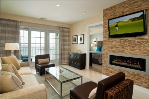 Privé Swiss Villa at Waters Edge Living Room View